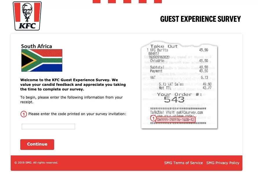 KFC South Africa Guest Experience Survey Welcome