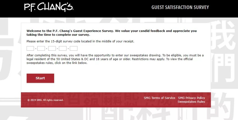 www.pfchangsfeedback.com – Participate In P.F. Chang's Guest Satisfaction Survey To Win$100 P.F