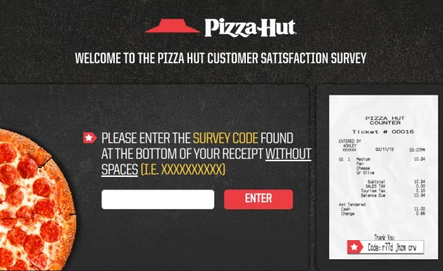 Pizza Hut Customer Satisfaction Survey