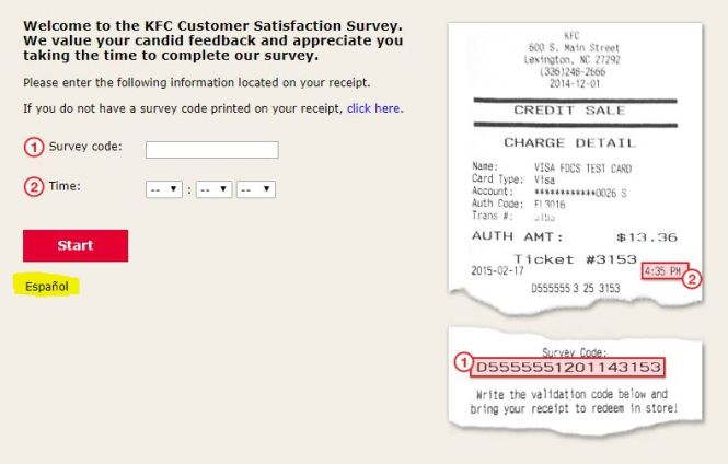 Mykfcexperience Survey