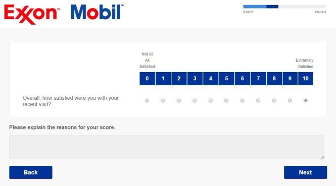 ExxonMobil Customer Satisfaction Survey