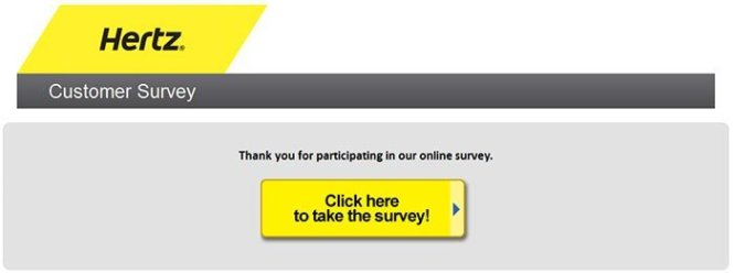 Hertz Customer Survey Promotional Code