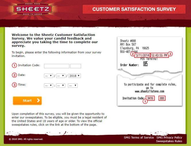 Sheetz Listens Customer Survey