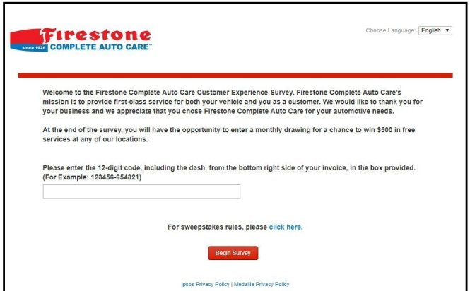 Firestone Customer Satisfaction Survey
