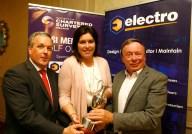 Colin Bray, SCSI President, Aine Myler, SCSI Director General, Vincent Hickey