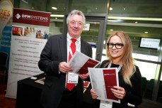 Bobby Gallagher and Lisa Fox from DFM Systems