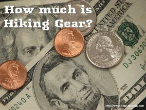 how much is hiking gear