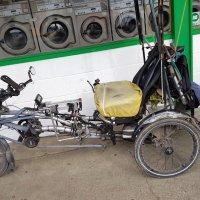 Cancer Survivor Rides Dual Motor Electric Tricycle for Good Health in Eugene Oregon
