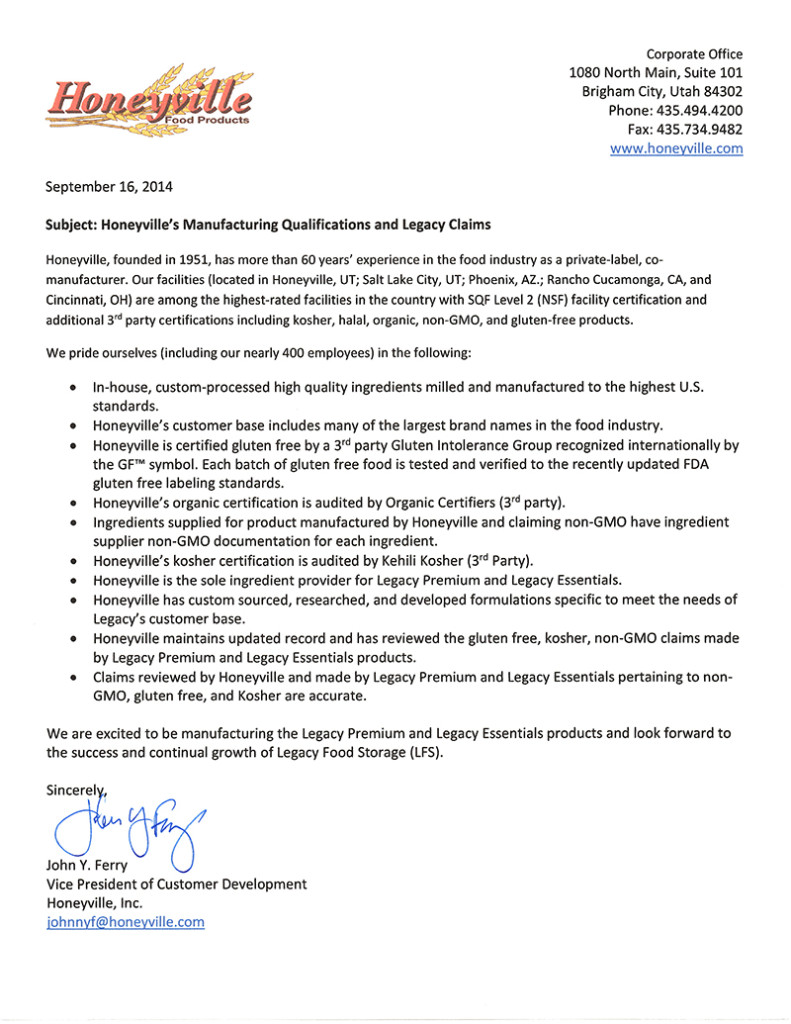 Legacy Honeyville MFG and NonGMO Letter-2