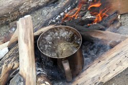 Boiling water for purification