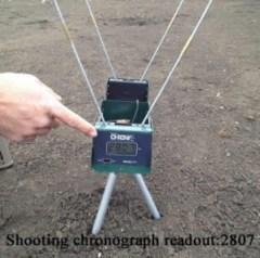 Shooting chronograph bullet test