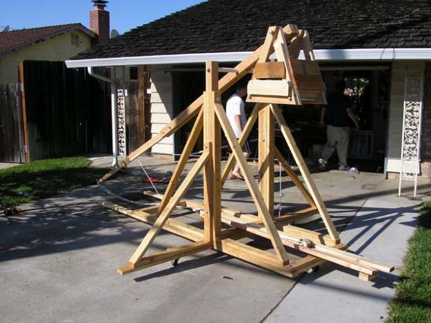 Trebuchet | 7 REALLY Badass Weapons You Can Make At Home | homemade weapons