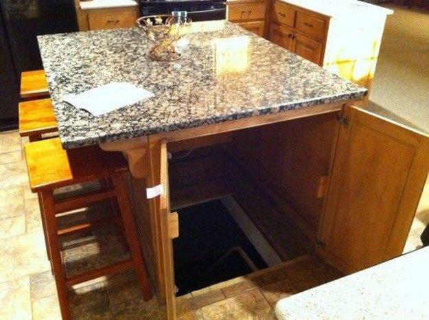 Kitchen Island Secret Passage | DIY Home Security for Preppers | Badass SHTF Home Defense