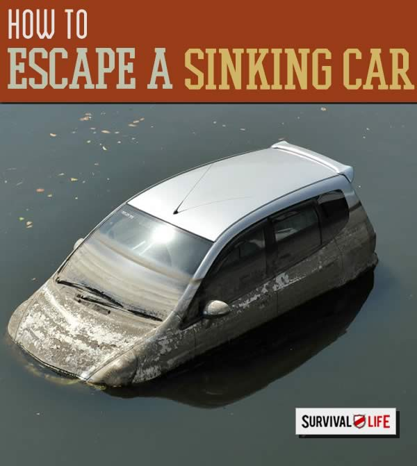 Escape a Sinking Car: What To Do When You're Submerged | https://survivallife.com/escape-a-sinking-car/
