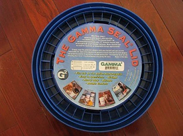 gamma seals, bucket lids, food storage