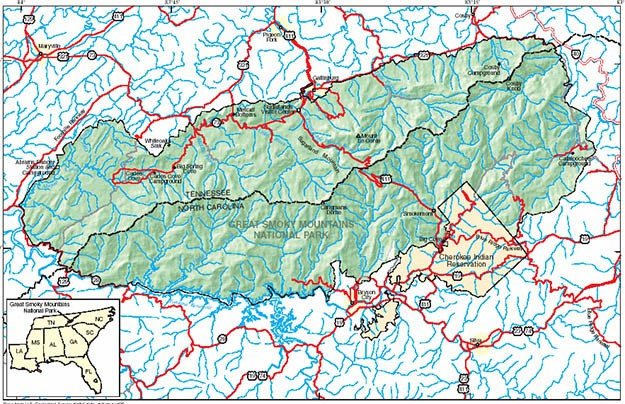 Smoky Mountains camping is definitely enjoyable because there is enough space for everyone. Via usgs.gov