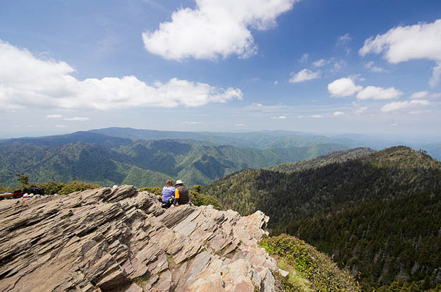 This mountain is one of the most traversed in the Smokies area. Via virginiatrailguide.com
