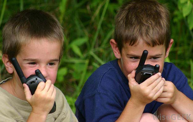 kids with walkies