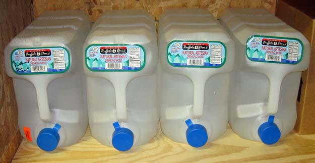 emergency water stockpile