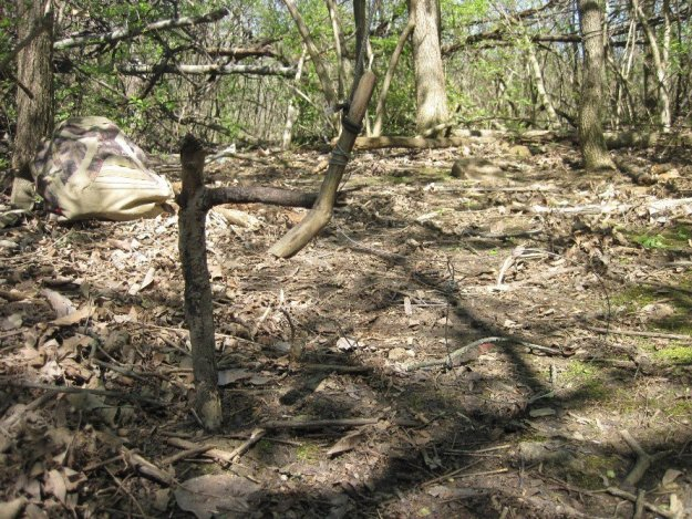 A lower view of the trap.