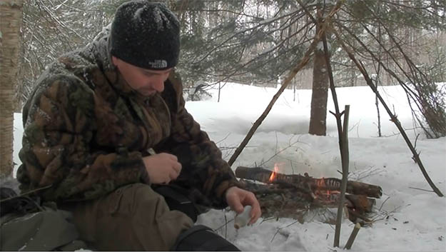 Now, Let's Get Cooking   How To Make Fire On Top Of Deep Snow