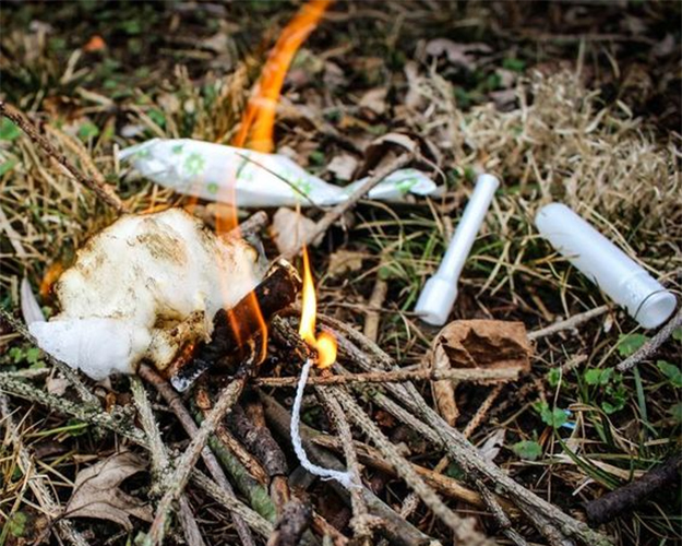 Fire Tinder | Surprising Survival Uses for a Tampon