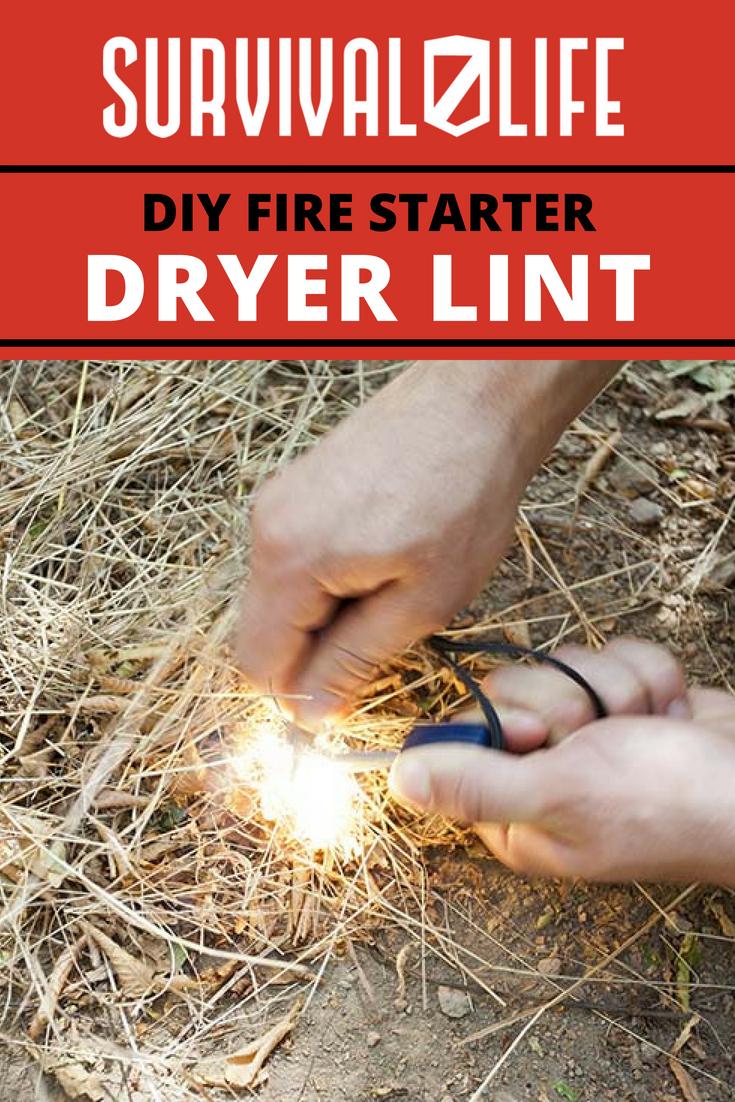 How To Make A DIY Dryer Lint Fire Starter   https://survivallife.com/dryer-lint-fire-starter/