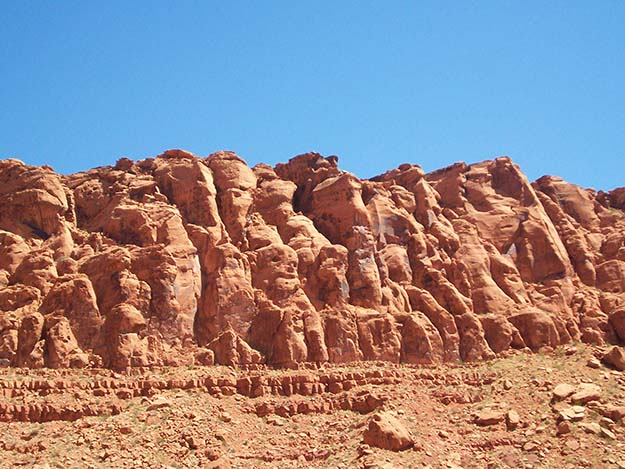 Red rock formations like these are common throughout Snow Canyon State Park.