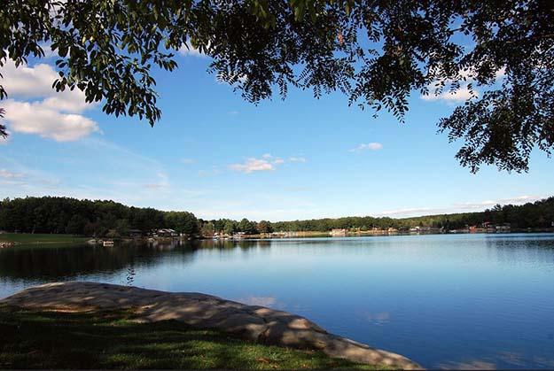 Big Bear Lake campground in West Virginia.