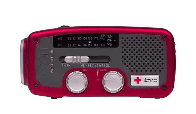 American Red Cross weather radio.