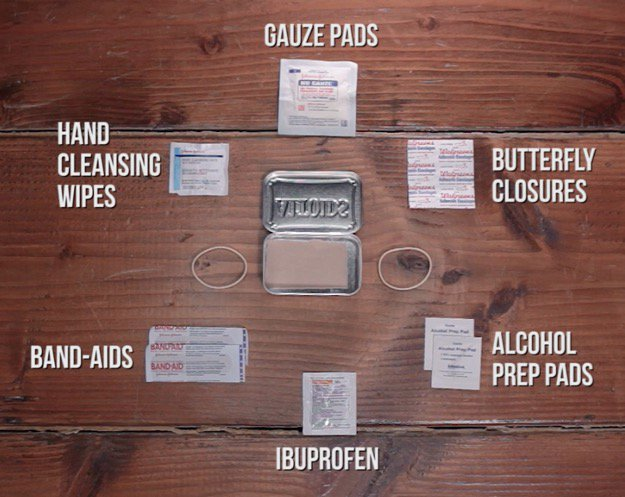 First Aid Kit Contents Gauze Pads