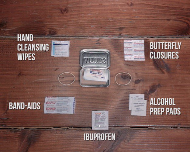 First Aid Kit Contents Ibuprofen