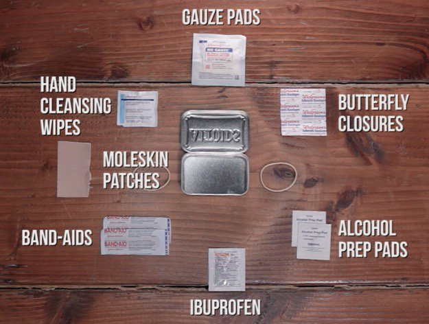First Aid Kit Contents Moleskin Patches