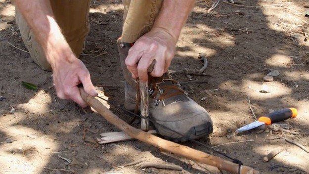 How to Start a Friction Fire Step Six
