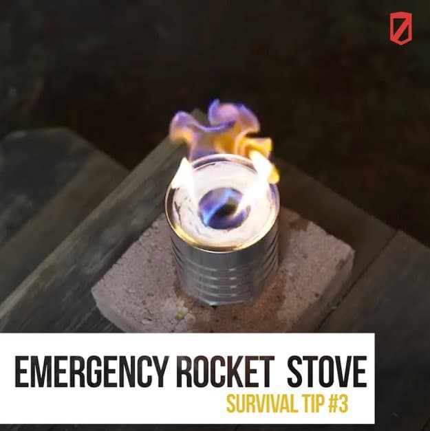 Rocket stove | Quick & Easy Survival Hacks Using Household Items