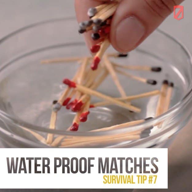 Waterproof matches | Quick & Easy Survival Hacks Using Household Items