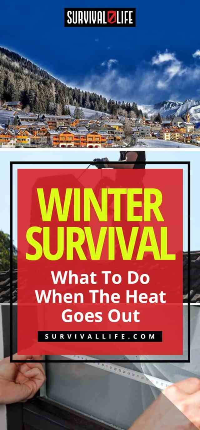 Placard | Winter Survival | What To Do When The Heat Goes Out