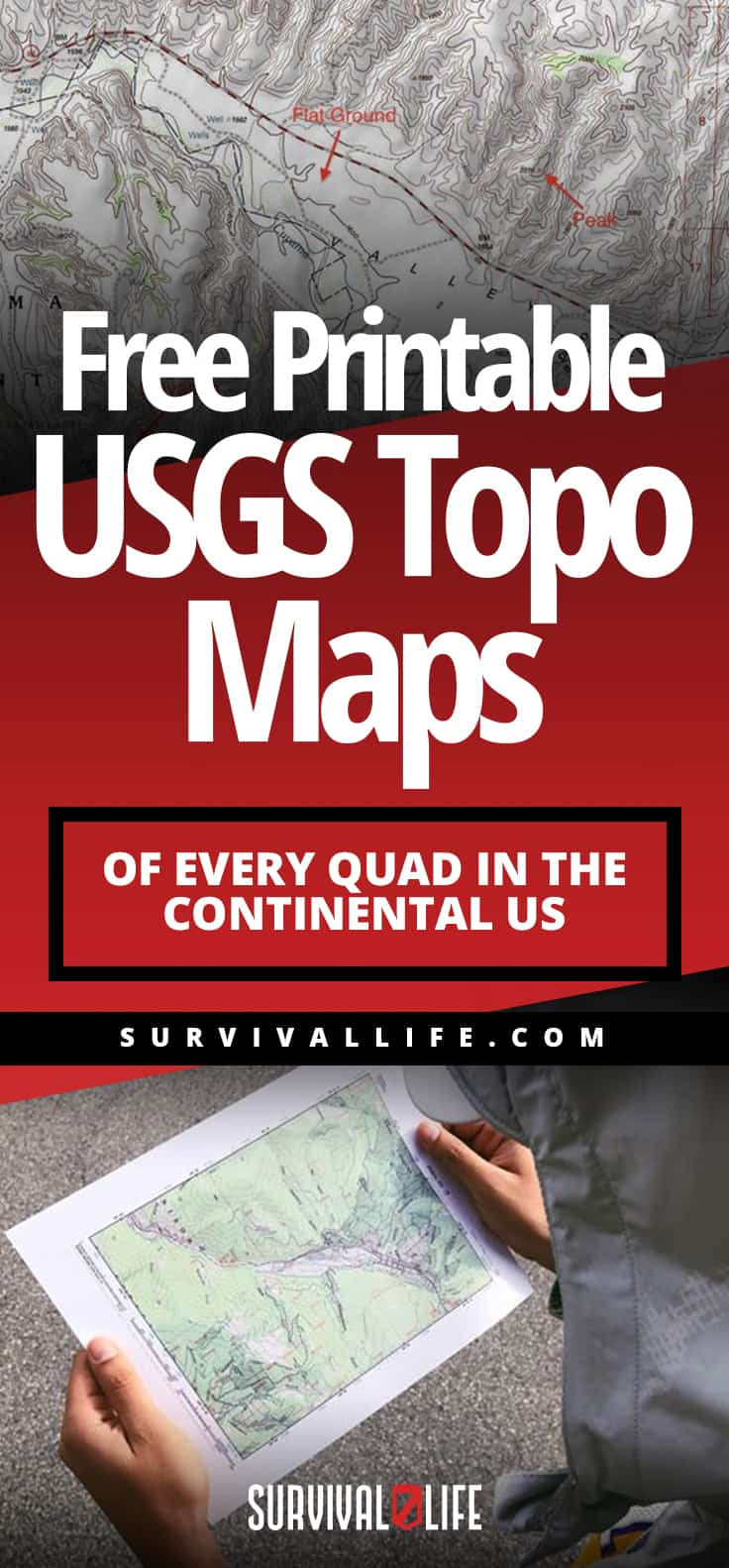USGS Topo Maps Of Every Quad In The Continental US [Free Printable ] | https://survivallife.com/printable-usgs-topo-maps/