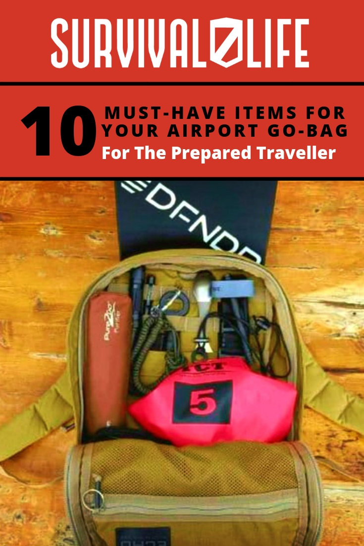 Airport Go Bag | Must-Have Items For The Prepared Traveler | https://survivallife.com/airport-go-bag/