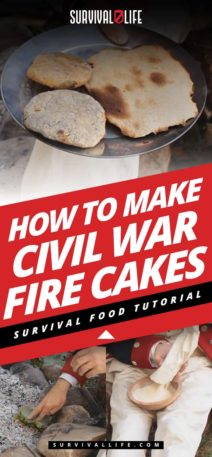 Infographic | How To Make Civil War Fire Cakes | Survival Food Tutorial | Civil War Fire Cakes