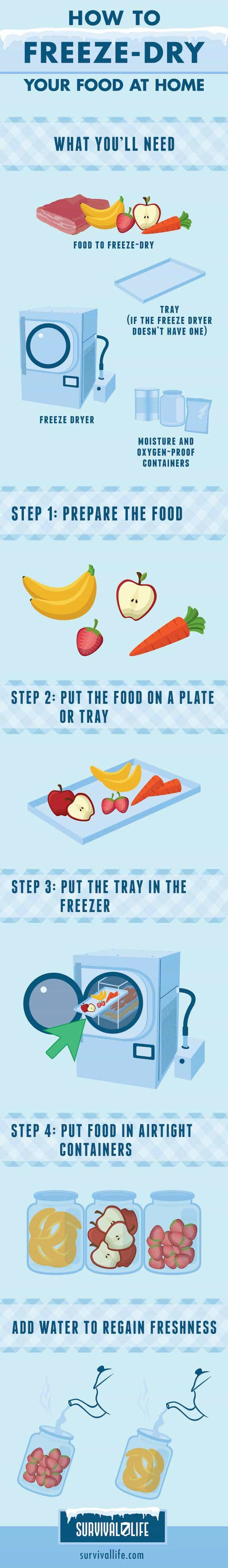 How To Freeze Dry Your Food At Home Infographics