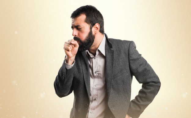 coughing man DIY Cough Syrups and Cough Drops | Chemical Free Remedies