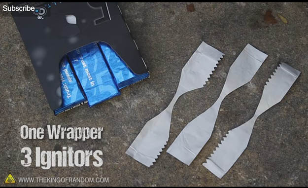 Start a Fire using a Gum Wrapper | 29 YouTube Survival Skills Videos That You Can Learn At Home