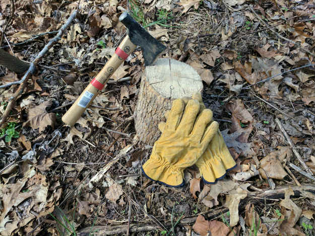 Work Gloves and Ax | Best Loans And Grants For Preppers Or Homesteaders