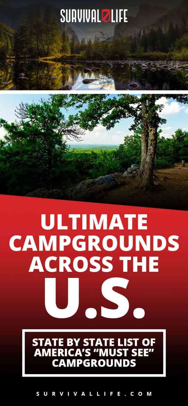 "Ultimate Campgrounds Across The U.S. : State By State List Of America's ""Must See"" Campgrounds"