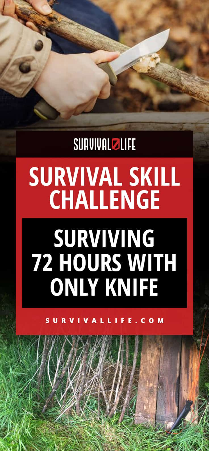 Knife   Survival Skill Challenge: Surviving 72 Hours With ONLY Knife