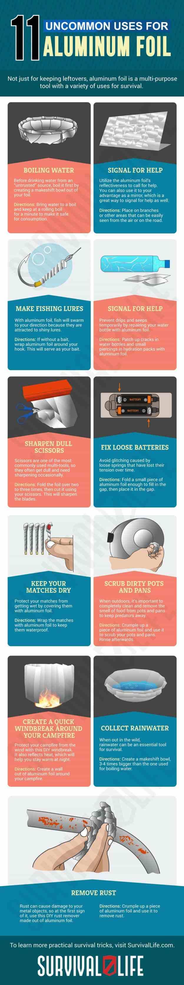 Infographic   Uncommon Aluminum Foil Survival Uses