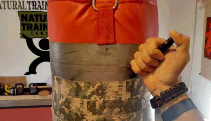 "Punchbag using write something using pens | Tactical Pens: They ""Ain't"" Just For Writing"