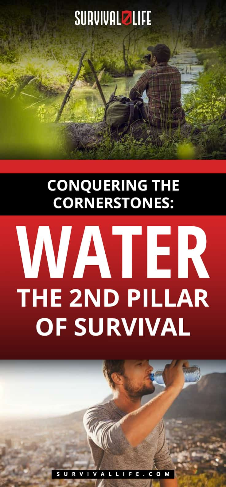 Placard | Water Survival | Conquering the Cornerstones: Water - the 2nd Pillar of Survival
