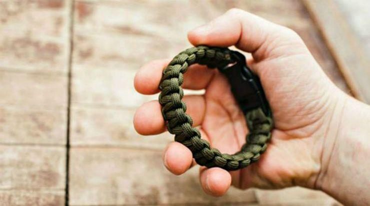 Holding paracord bracelet | Obscure Bushcraft Skills For Survival